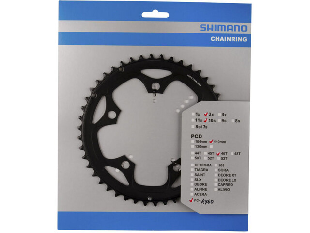 Shimano FC-R460 Chainring 10-speed F black